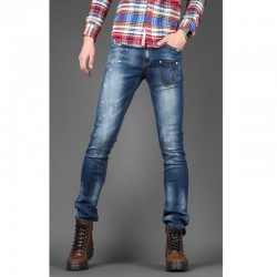uomini jeans skinny tasca anteriore sottile