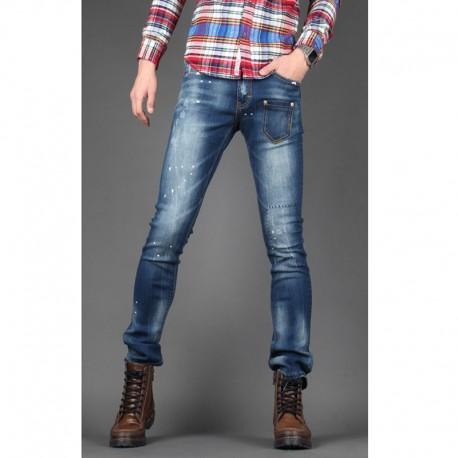 чоловічі вузькі джинси тонкий передній кишеню