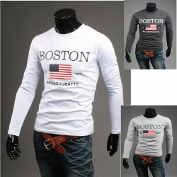 boston sterren en strepen heren round shirts
