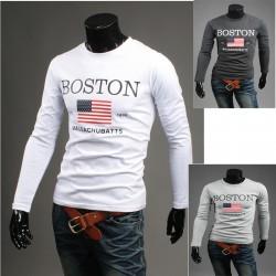 бостон зірки і смуги чоловічі сорочки круглі
