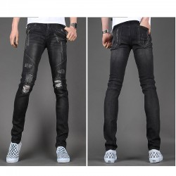 мужские узкие джинсы тонкий байкер диверсионные