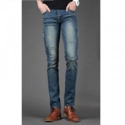 vyriški liesas džinsus plonas kietas supjaustyti klubo