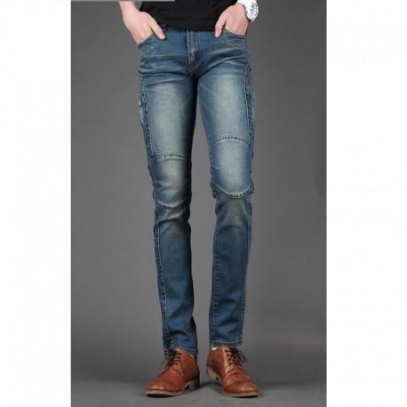 mannen skinny jeans slanke effen cut hip
