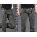 sottile cerniera cinghia pantaloni di cotone in forma maschile