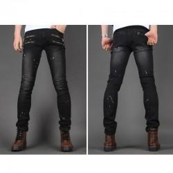 чоловічі вузькі джинси тонкий унікальний зябрових кишеню