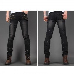 mannen skinny jeans slank unieke kieuw pocket