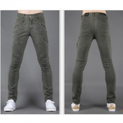 pánské úzké džíny slim diagonální ruční kapesní