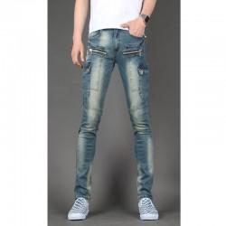 pánske úzke džínsy slim peňaženka double pocket
