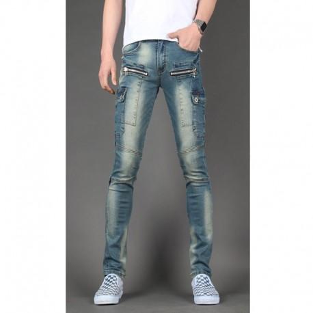 mannen skinny jeans slank portemonnee dubbele pocket