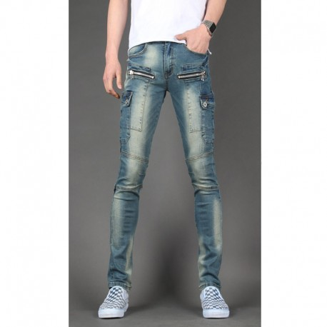 skinny jeans hommes portefeuille mince à double poche