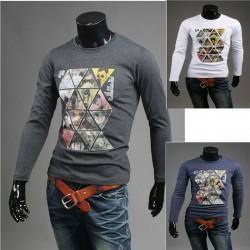 magliette rotonde rivista mosaico degli uomini