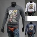 vyriški mozaika žurnalas apvalios marškinėliai