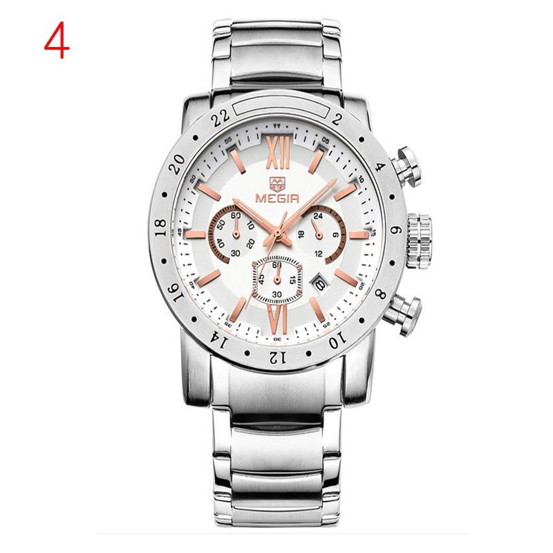 megir pravá kůže hodinky muži luxusní značky chronograf 24 hodin vojenské  hodinky f62b386f18