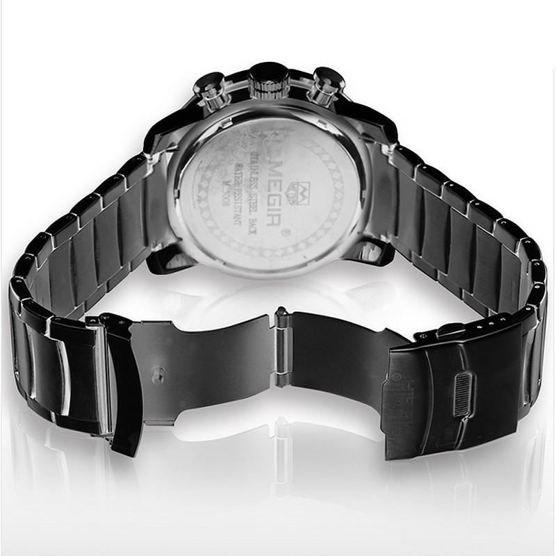 megir pravá kůže hodinky muži luxusní značky chronograf 24 hodin vojenské  hodinky 2a8fc5e8b39