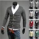 mannen basic eenvoudige 4-knop vest trui