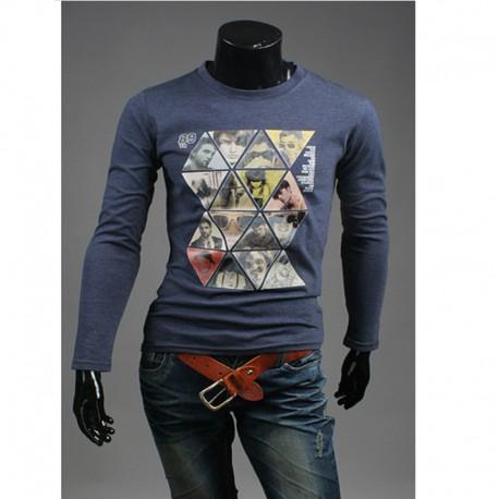 mænds mosaik magasin runde skjorter