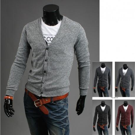 men's fermentation 5 button cardigan sweater