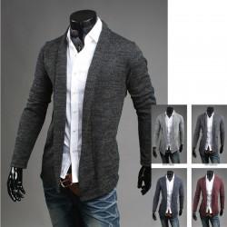 sal collr cardigan pulover la jumătatea bărbați