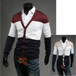 miesten neuletakki 3 väri hieno villapaita