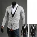 för män kofta dubbla tröja