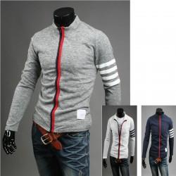 La fermeture à glissière cardigan zip up tricot pour hommes
