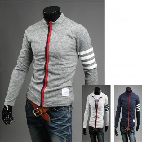 cardigan con cerniera zip fino maglia maschile