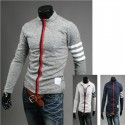 men's cardigan zip up knit zipper