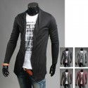 men's long shawl cardigan