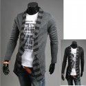 men's long shawl cardigan pharaoh