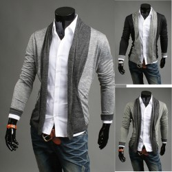 men's shawl cardigan scarf