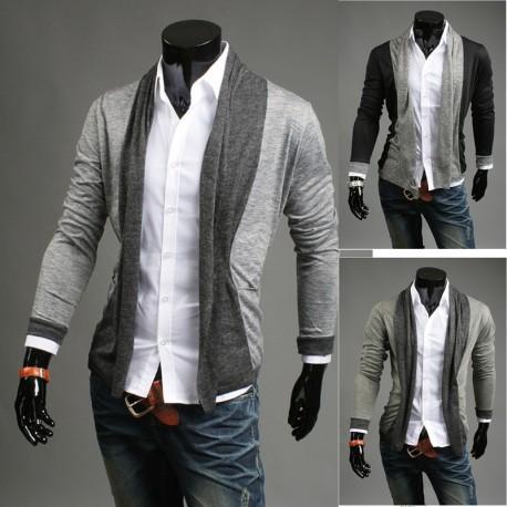 sciarpa scialle cardigan maschile
