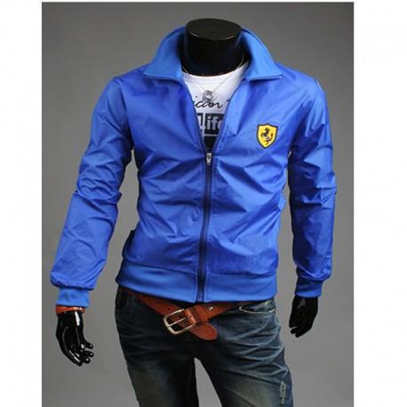 giacca a vento degli uomini scudo Ferrari