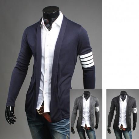 mænds sjal cardigan ærme linje 4