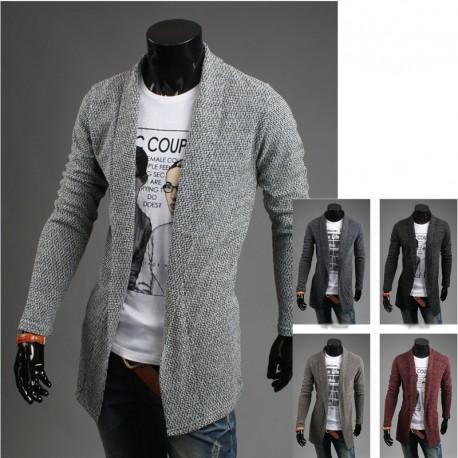 Heren lange shawl vest bocasi