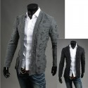 men's destroy hole cardigan