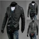 pánska kožená bunda vlny kabát mix