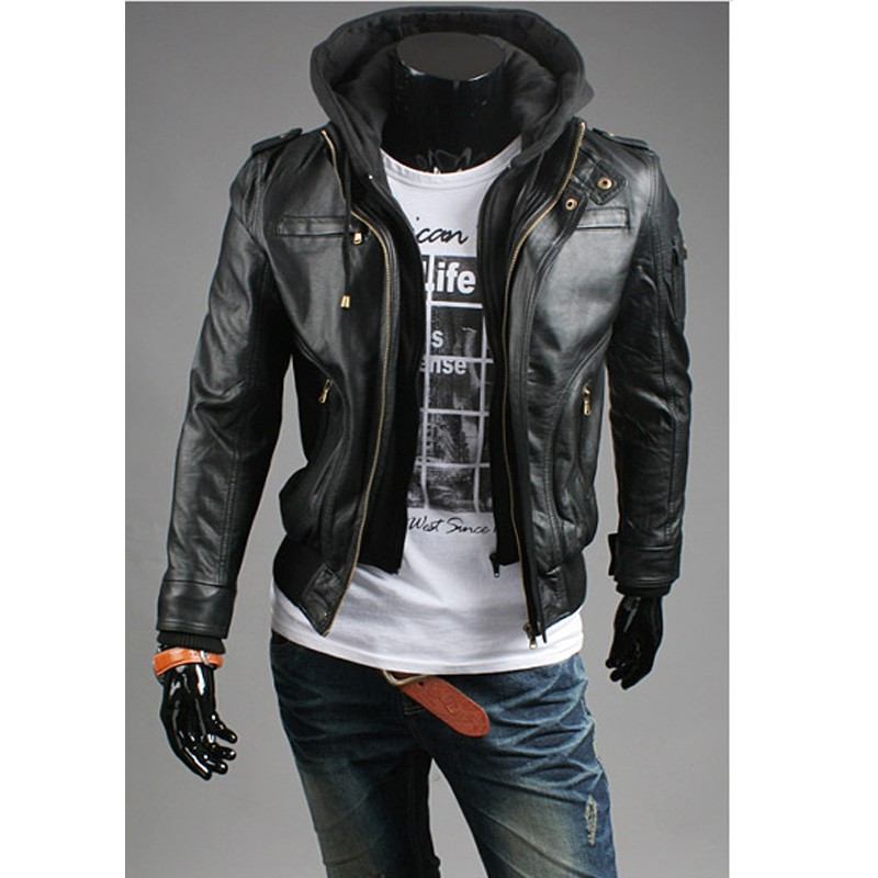 mens leather jacket sale|men's leather jacket hoodie ...
