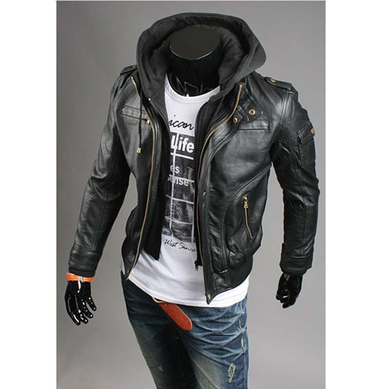 Leather jackets with hoodies