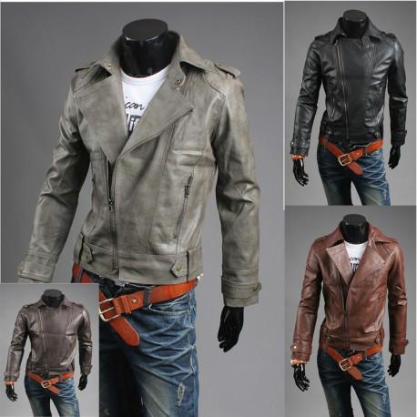 чоловіча шкіряна куртка тріщина промивають наїзника