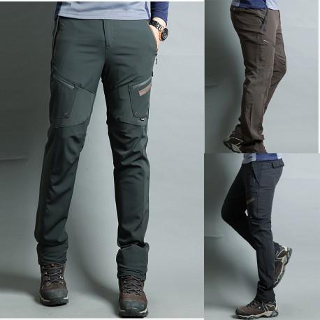 pánske turistické nohavice lezecké krútenie stehenné vrecká