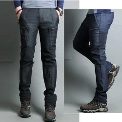 vīriešu pārgājienu bikses kāpšanas pārklāšanās sānu kabatas
