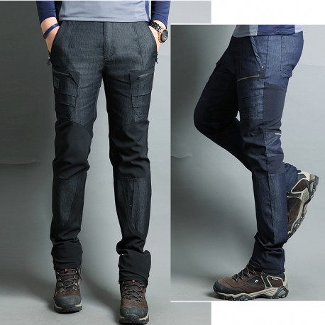 vyriški pėsčiųjų kelnės laipiojimo persidengimo šoninė kišenė