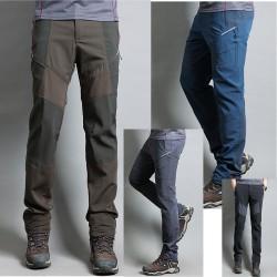 męskie spodnie na piesze wędrówki skręcać ukrytą kieszeń