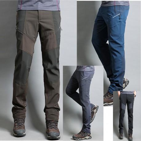 vīriešu pārgājienu bikses vērpjot slēptās kabatas