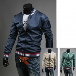 4 line color men's windbreaker jacket