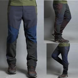męskie spodnie na piesze wędrówki stałe potrójna kolor