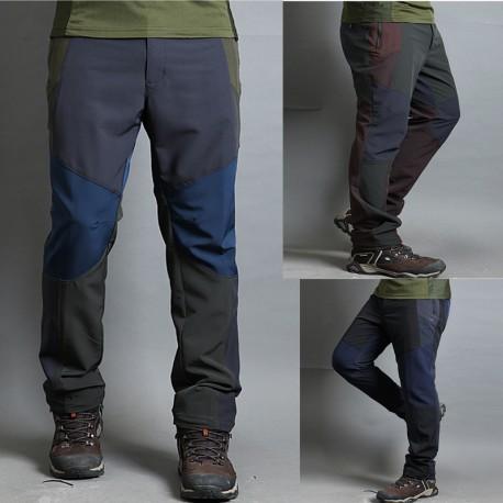 pánske turistické nohavice pevné triple farebné