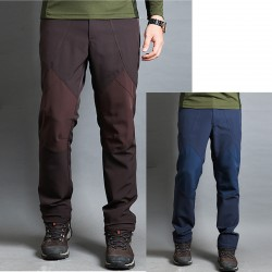 męskie spodnie na piesze wędrówki głęboko kolor kolanowe