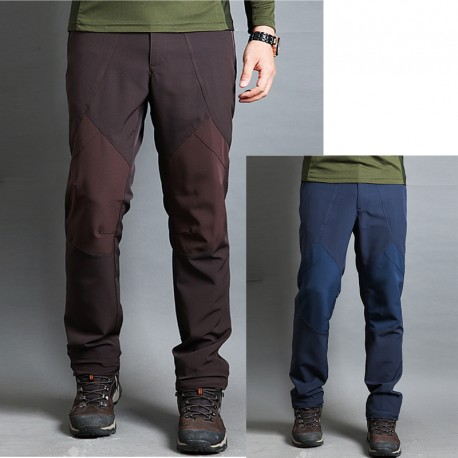 Herren-Wanderhose tiefe Farbe Knie
