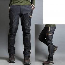 menns fotturer bukser gul linje glidelås